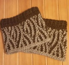 tunisian boot cuffs