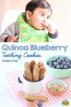 Quinoa Teething Cookies with Blueberries Gluten Free Hard enough to grasp and hold, yet they will dissolve when chewed. Most important: they taste good! Teething Cookies, Baby Cookies, Baby Teething Biscuits, Cookies For Babies, Summer Cookies, Heart Cookies, Valentine Cookies, Easter Cookies, Birthday Cookies
