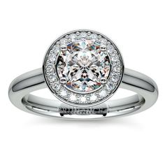 Halo Diamond Engagement Ring in White Gold (1/4 ctw) | Image 01