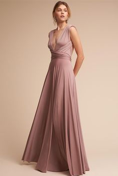 BHLDN Ginger Convertible Maxi Dress Dusty Blue in Bridesmaids & Bridal Party Two Birds Bridesmaid, Blue Bridesmaid Dresses, White Maxi Dresses, Formal Dresses, Women's Dresses, 1950s Dresses, Lilac Dress, Long Dresses, Green Dress