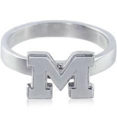 Size 7 Collegiate University of Michigan Logo Ring