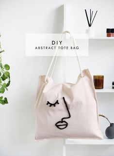 DIY abstract tote bag made from a cushion cover   DIY fashion accessories