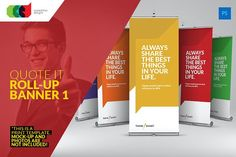 Quote It - Roll-Up Banner 1 by Cooledition on @creativemarket