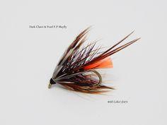 Dark Claret & Peart F.P. Mayfly by Paul Caslin