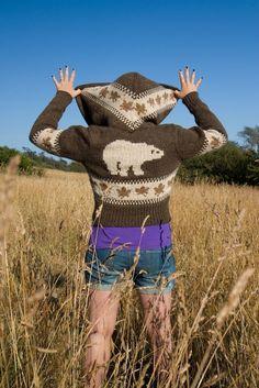 Womens Hooded Siwash-polar bear. $400.00, via Etsy.