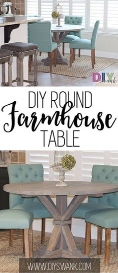 Diy Furniture : DIY ROUND FARMHOUSE TABLE. Build for under $85