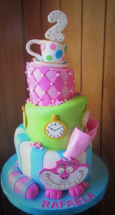 Tortas Imagina - tortas cumpleaños - Tortas alicia en el país de las maravillas - tortas personalizadas - tortas niños - tortas niñas . tortas panqueque