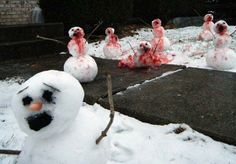 Epic snowmen from Japan this season. :)