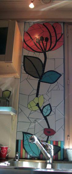 Fresque de cuisine sol murale plan de travail lavabo for Fresque murale cuisine