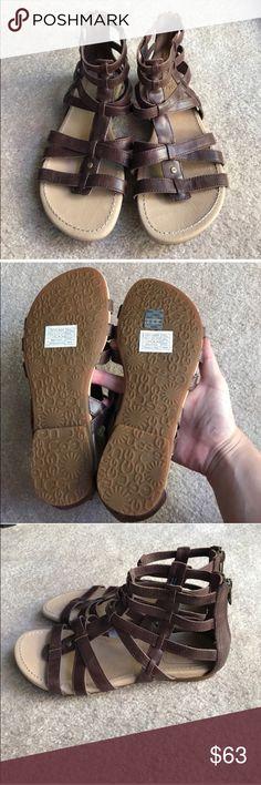 UGG salah brown leather Gladiator sandals 7 UGG salah brown leather Gladiator sandals 7 UGG Shoes Sandals