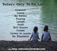 different ,kind of to do list for parents (intentional living)