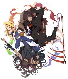 Look at them. Now don't you want to become apart of the Akatsuki? :3
