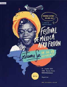 #01 AFRO FUSION FESTIVAL Graphic Design | Illustration | Typography poster design