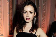 Gorgeous Lily Collins... those eyebrows!