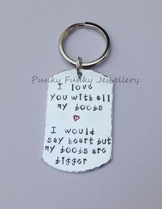 I love you with all my boobs 3 I would say by PFJewelleryshop