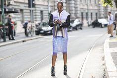 Milan Fashionweek SS2015 day 4, outside Jil Sander