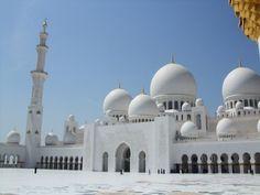 Templos Religiosos - Grande Mesquita Sheik Zayed, em Abu Dhabi, nos Emirados Árabes