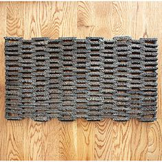 Buffed Recycled Rubber Doormat   Rugs  Home Decor   World Market