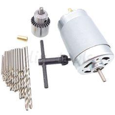 25X Hss Twist Drill Bit Micro Model Craft Drill Bits + 6-15V 555 Motor Jt0 Chuck