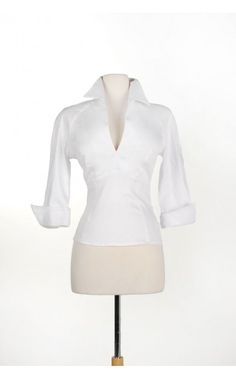 Pinup Couture- Lauren Top in White Sateen - Plus Size | Pinup Girl Clothing