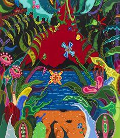 Erik Parker  Big New World, 2012  acrylic paint on canvas  80 x 70 inches  203.2 x 177.8 cm
