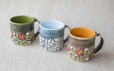 Handmade Clay Cup Brown Ceramic Eco Friendly Tea Mug Artisan Kitchen Drinkware