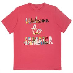Paul Smith Men's T-Shirts | Pink 'Welcome to Jamaica' Print T-Shirt