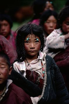 Young nomad girl. Kham, eastern Tibet, 1985. * 1500 free paper dolls for girls at Arielle Gabriels International Paper Doll Society also her new book explores her life as a mystic suffering financial disaster in Hong Kong The Goddess of Mercy & The Dept of Miracles a unique memoir*