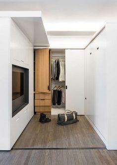 Mini apartamento con tabique móvil   Estilo Escandinavo
