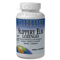 Slippery Elm Lozenge  Echinacea and Vitamin C 100 lozenges by Planetary Herbals. 1 lozenge as needed. Do not exceed 10 lozenges daily. For optimal results, allow lozenge to slowly dissolve in the mouth for prolonged contact with the throat.