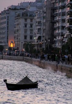 The waterfront at dusk - Thessaloniki, Greece | by gmark1