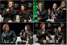Sam Heughan and Caitriona Balfe ruling the emrald city comic con event
