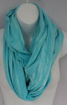 Misty green tie dye infinity scarf in by qualicumclothworks