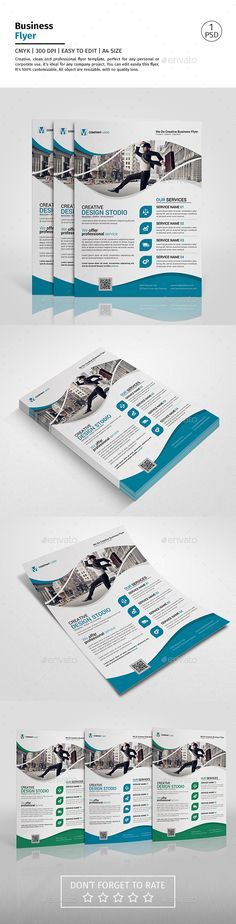 A4 Corporate Business Flyer Template PSD. Download here…
