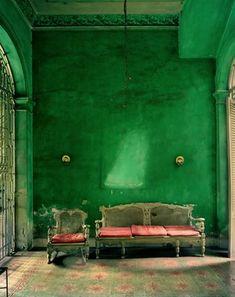 Emerald green room