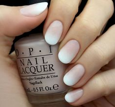 6. These white ombre nails are a pretty twist on a classic french manicure.