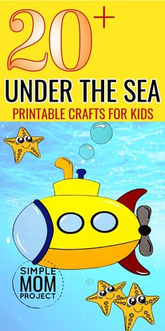 Enjoy this amazing collection of Printable Under the Sea crafts with your kids. With over 20 different printable ocean animals and including this awesome submarine printable as well. From toddlers & preschoolers to big kids as well this bundle of our most popular under the sea crafts will educate and activate the creative minds of your little ones! Sea Animal Crafts, Animal Crafts For Kids, Under The Sea Crafts, Water Animals, Printable Crafts, Forest Animals, Toddler Preschool, Big Kids, Awesome
