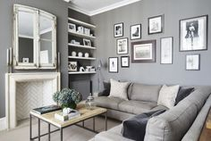 Living+Room Interior Design Gallery, Brixton, Eclectic Style, Two Bedroom, Reception, Gallery Wall, Couch, Contemporary, Living Room
