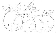 moldes de frutas para pano de prato 1