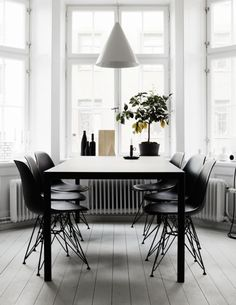 8adb6c77 Gorgeous bay windows and stripped back interior. combined work/live space  of Swedish-based art director Therese Sennerholt.