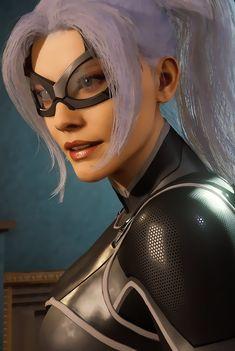 Spiderman Black Cat, Black Cat Marvel, Marvel Dc, Marvel Comics, Batman, Super Hero Costumes, Amazing Spider, Felicia, Girl Power
