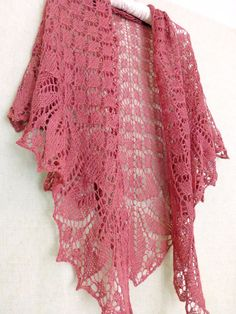 Check out this item in my Etsy shop https://www.etsy.com/ru/listing/453260908/berry-hand-knit-lace-shawl-ready-to