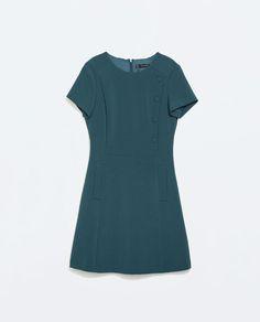 ZARA - WOMAN - SIDE BUTTONED A-LINE DRESS