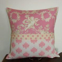 Housse de coussin rose tendre, romantique pour l' ange