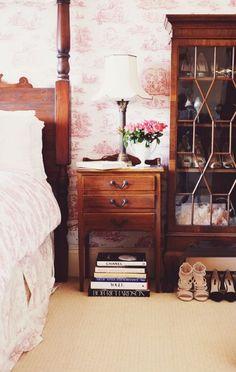 A Glamorous Home In Edinburgh | Design*Sponge Shoe Display Closet REPURPOSED ( was a antique mahogany china cabinet)