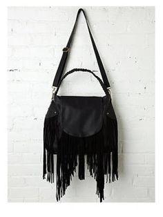 A Fringed Handbag