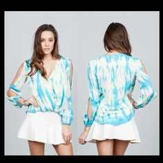 75f0f5cfc77 Oceans Allure Store · Gorgeous new front wrap blouse with peek-a-boo  sleeves! Palm Beach Gardens