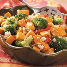 Broccoli & Sweet Potato Salad Recipe...perfect for when you need a break from meat.  : )