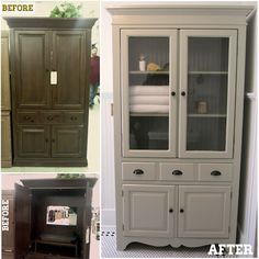 Keep Smiling: TV Cabinet to Linen Cabinet...want for our bathroom