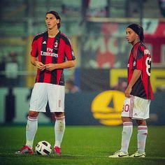 #Zlatan #Ronaldinho back in the days in AC Milan❗️